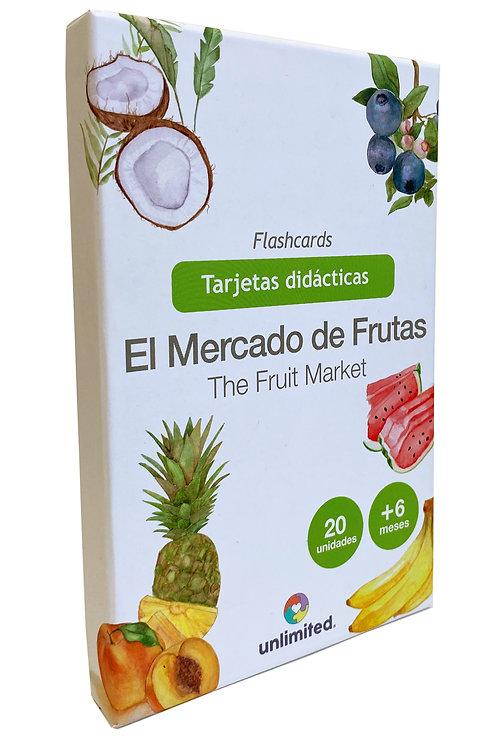 Tarjetas didácticas: El mercado de frutas