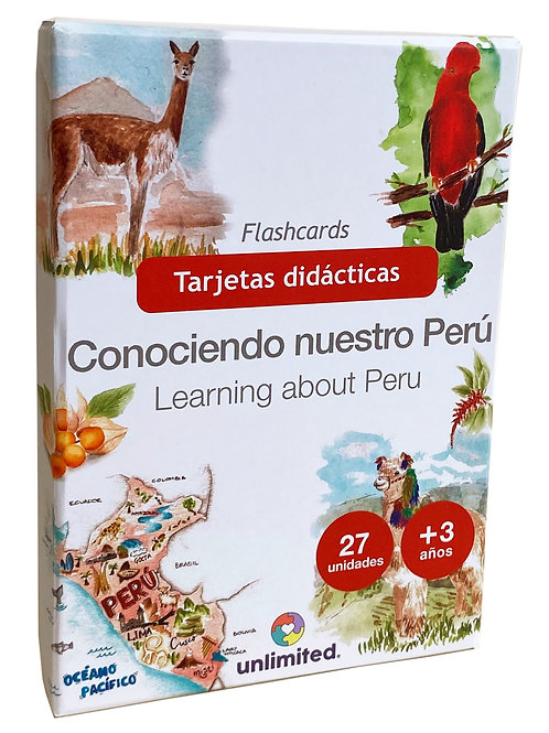 Tarjetas didácticas Perú