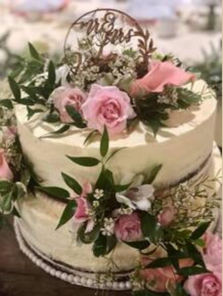 Caramel Sugar Glazed Wedding Cake