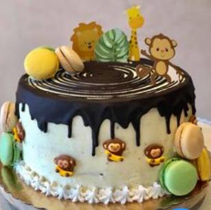 Birthday Caramel Sugar Glazed Cake