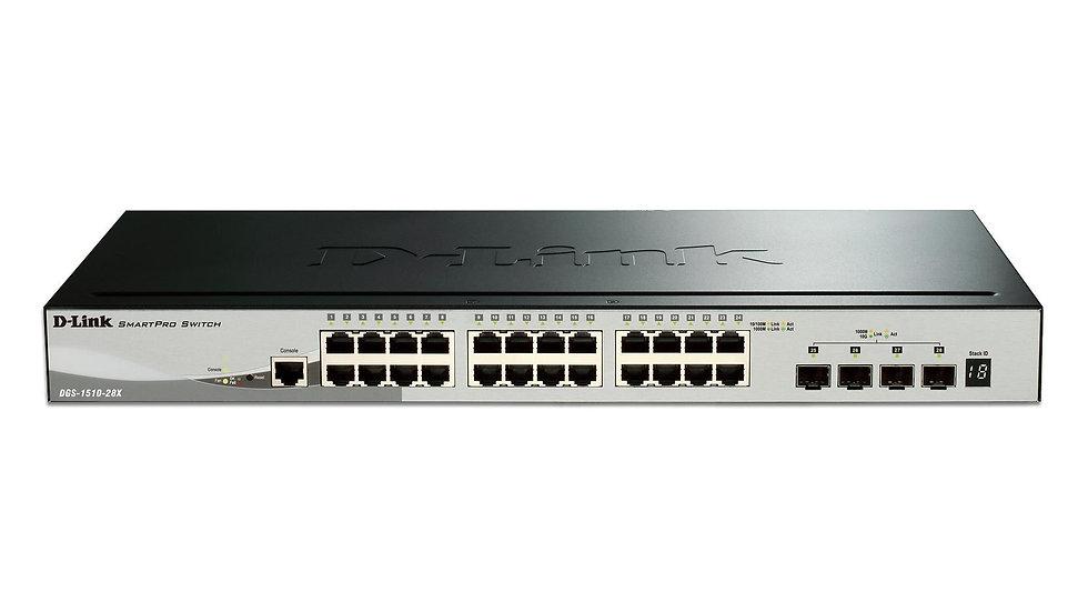 D-Link DGS-1510-28X Smart Series Switch Layer 3 Lite SmartPro Stackable Gigabit