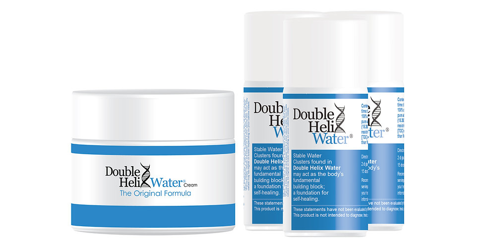Double Helix Water and Cream Package