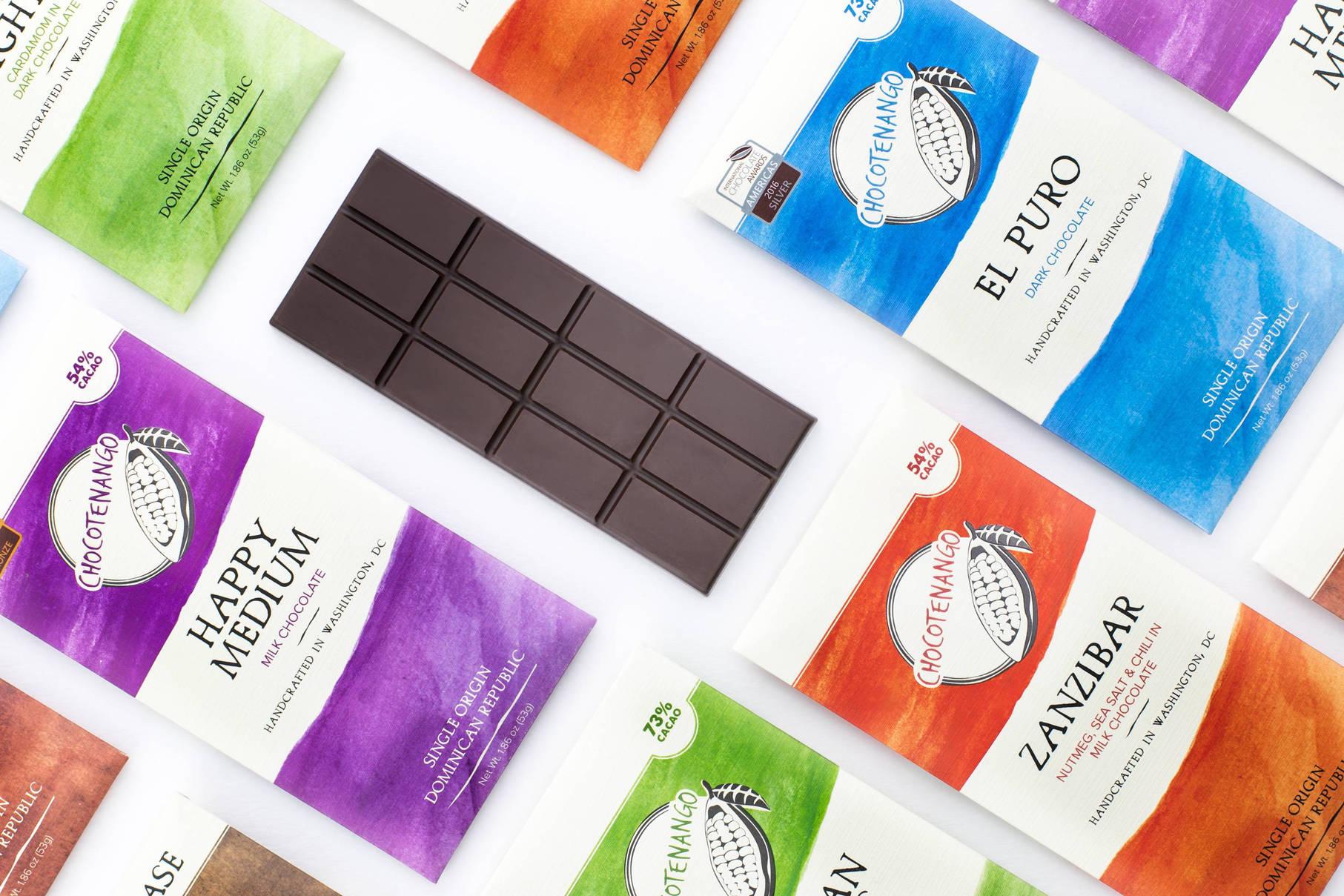 Bean to bar chocolates made in Washington DC