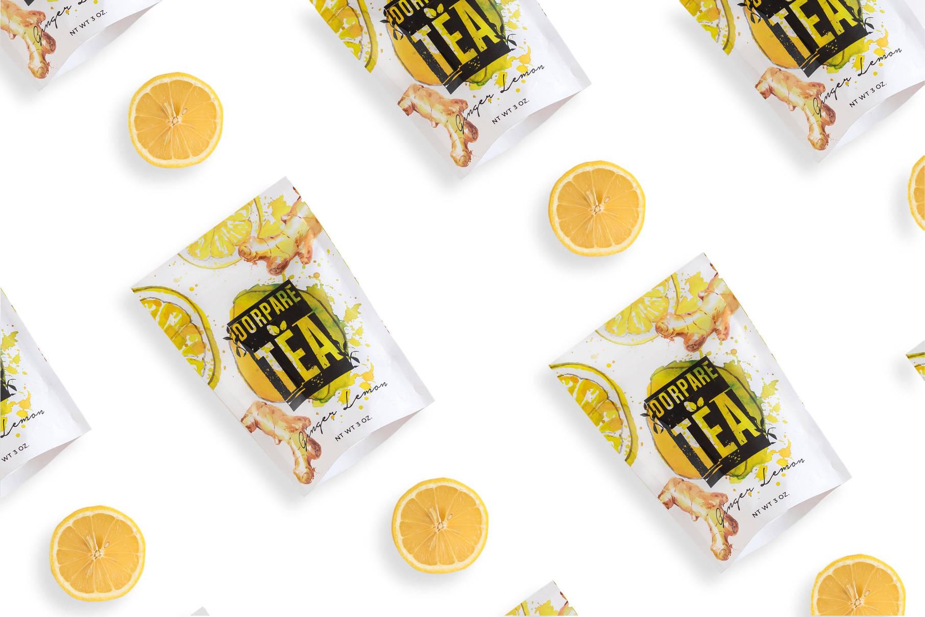 Lemon Ginger Tea Dorpare - Food Photographer-Washington DC