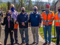Governor Brown visits Almeda Fire debris cleanup site