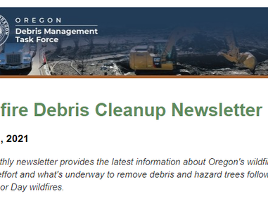 Meet Joan Williamson and read the latest news about Oregon's wildfire cleanup effort