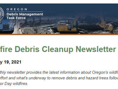 Get the latest Oregon wildfire debris cleanup news