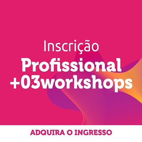 Profissional | Inscrição Congresso + 3 workshops
