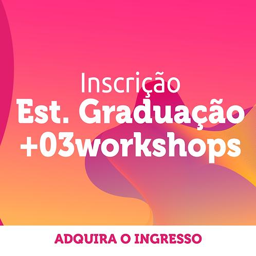 Estudante de Graduação | Inscrição Congresso + 3 workshop