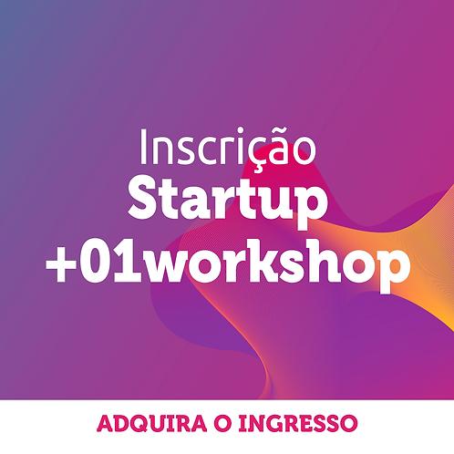 Startup   Inscrição Congresso + 1 workshop