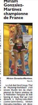 Miriam Gonzalez: Französische Nationalmeisterschaft - Muay Thai