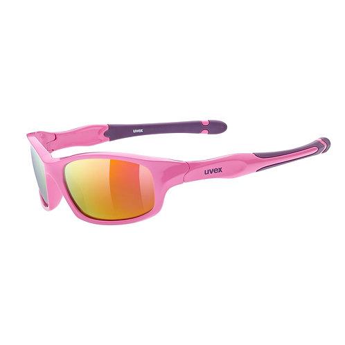 Uvex sportstyle 507 pink-purple mirror orange sunglasses