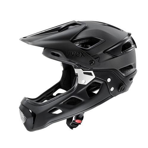 Uvex jakkyl hde black-dark silver mat Full Face Helmet