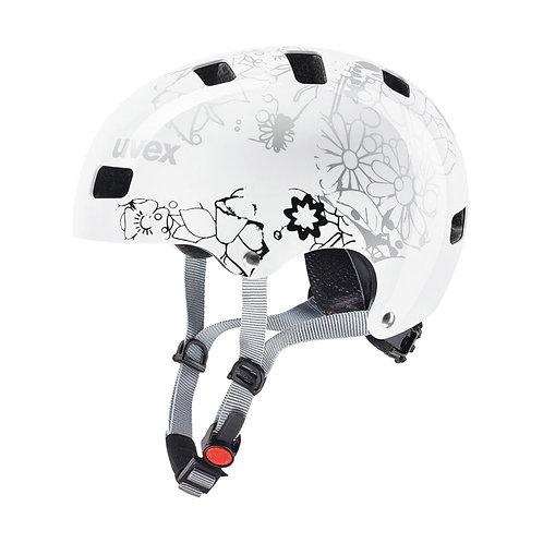 UVEX Kid 3 white flower Helmet