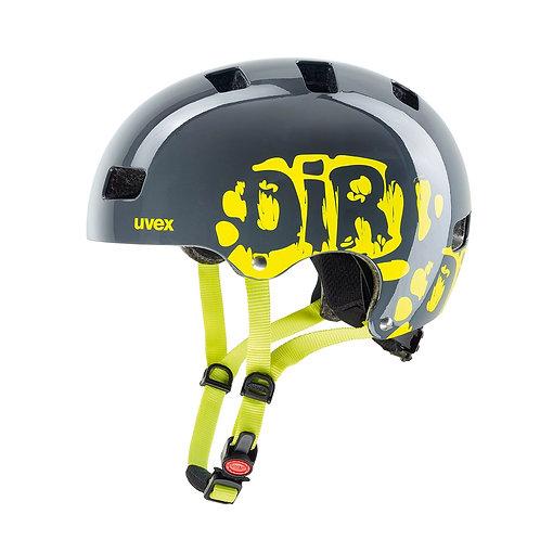 UVEX Kid 3 Dirtbike grey/lime Helmet