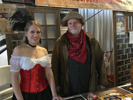 Pioneer Pete and Miss Mel at the Horse Expo.