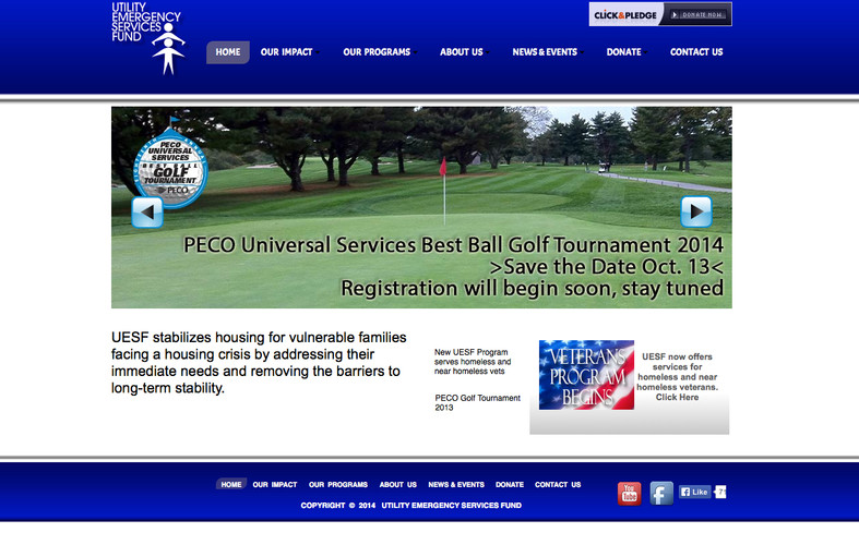 UESF News and Events Website 2011 Design