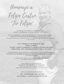Homenaje a Felipe Castro %22Tio Felipe%2