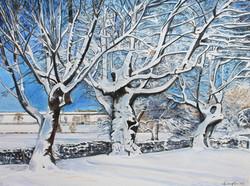 Snowy Morning at Quabbs