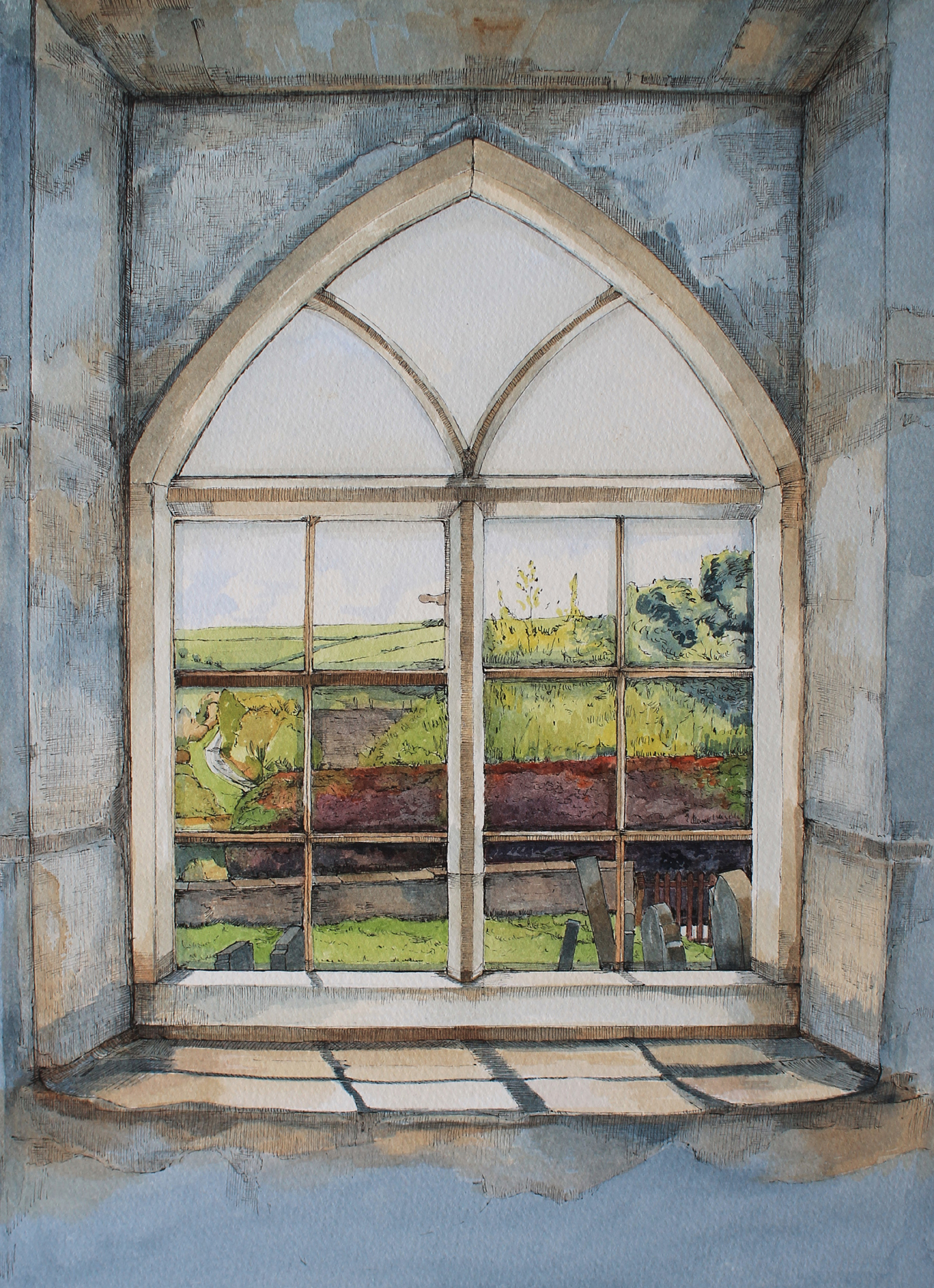Window at Black Mountain Chapel