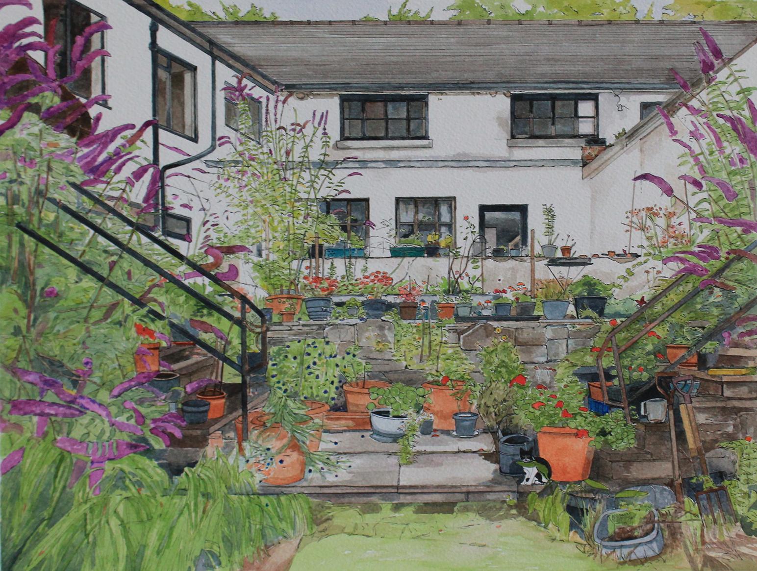 Alex's Garden at the  Anchor Inn