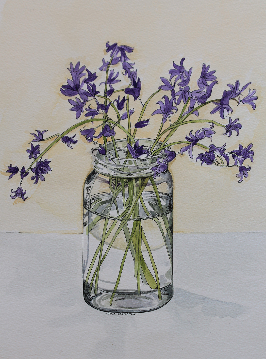Bluerbells in a Jam Jar