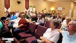 Our congregation listens intently.
