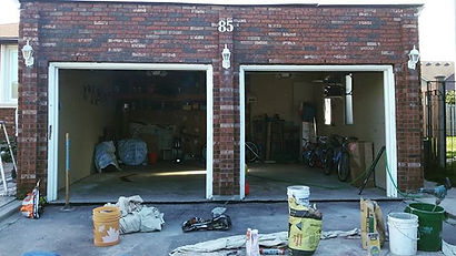 Bricked up our clients' garage . . . . .