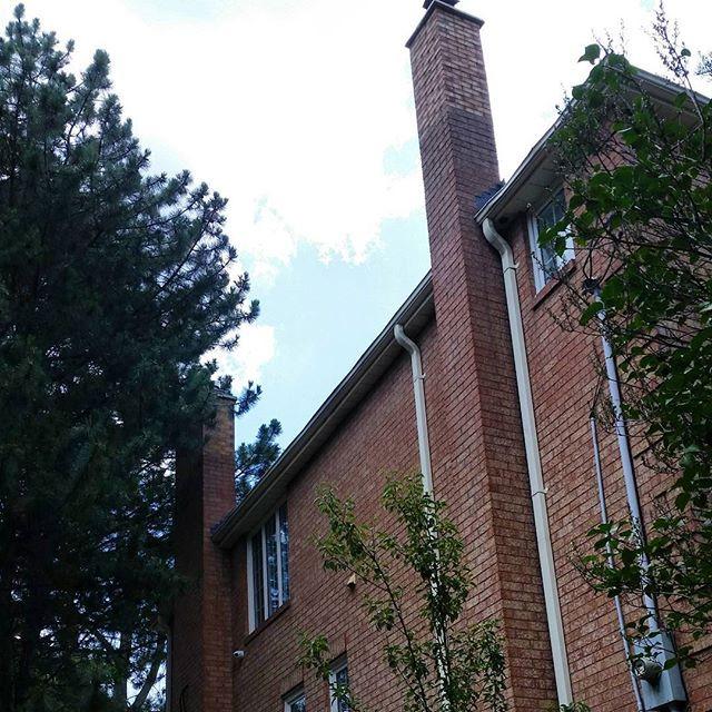 Chimney rebuild Before/After  #chimney #