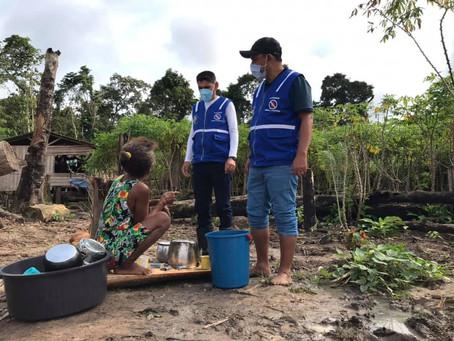 Prefeitura entrega cestas básicas a famílias da zona rural atingidas por alagação em Porto Walter