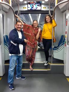 Amigos en el Tren Turístico