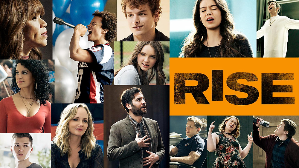 A promotional poster to Season 1 of NBC's musical TV series 'Rise' in an article about why it deserves Season 2.