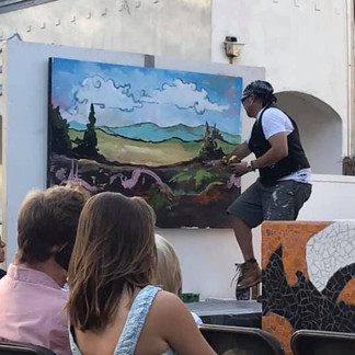 Performance Painting Jazz and Beat Festival 2019
