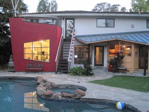 Studio from the backyard