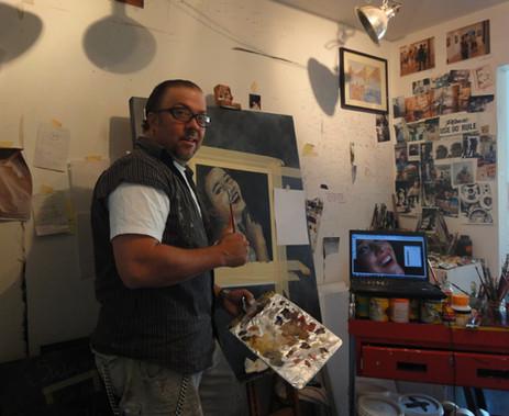 "Myron painting ""blurred polaroid"""