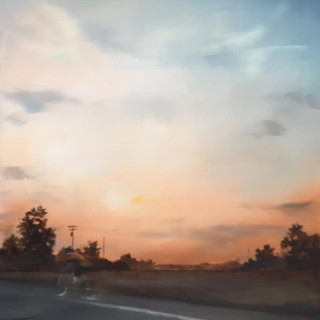 Cyclist and Sunset