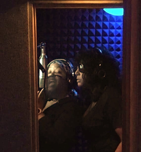 Cooper and Lungs in the studio