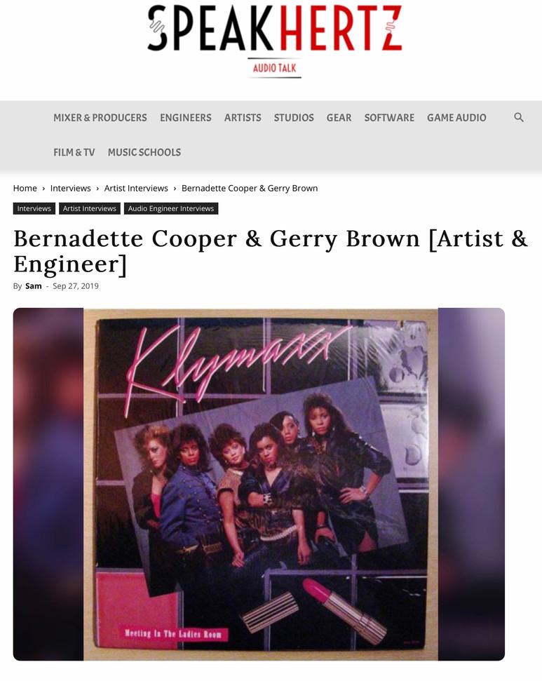 Speakhertz Interview Cooper & Brown