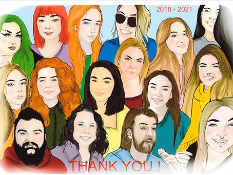 Goodbye Graduating Class of 2021!