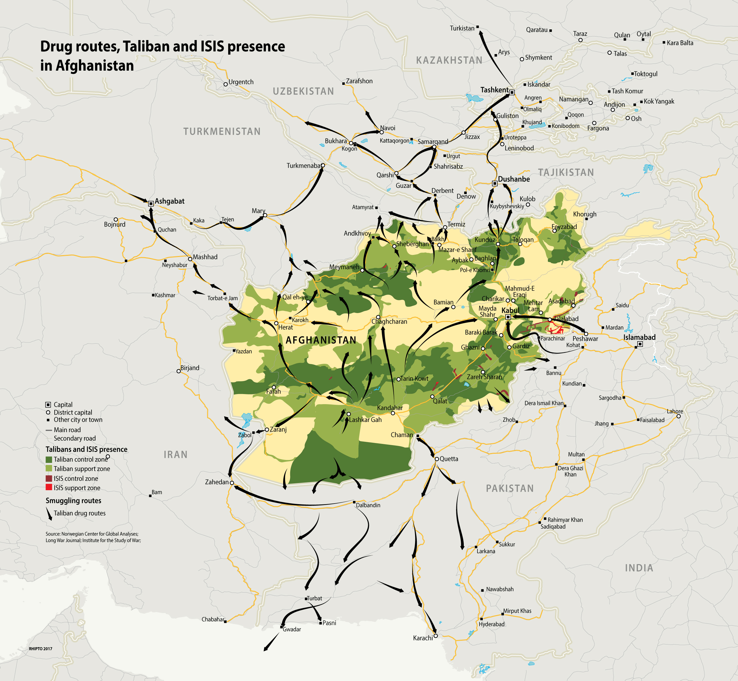 Afghanistan: Drugs, Talibans and IS