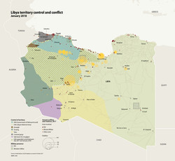 Libya territory control and conflict