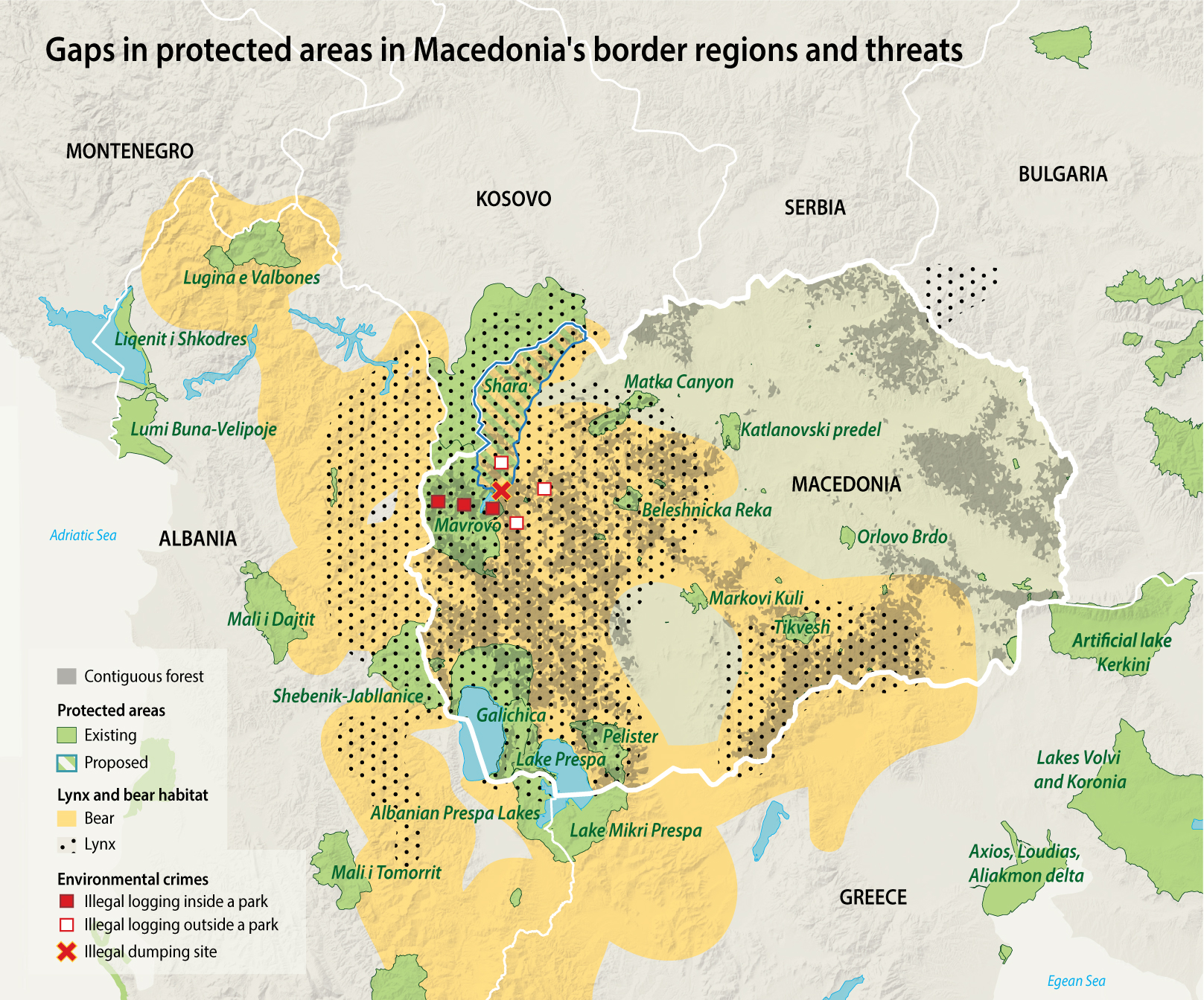 Macedonia protected areas threats