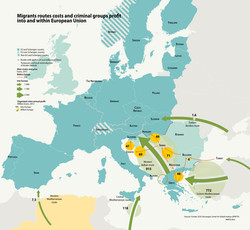 Migrant routes and flows to Europe