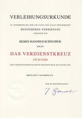 Bundesverdienstkreuz am Bande Manfred Schneider Jonasch + Schneider