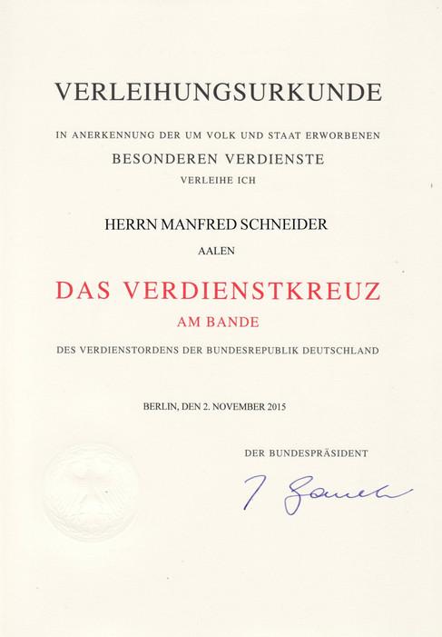 2016 Bundesverdienstkreuz am Bande