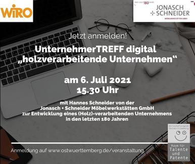 """UnternehmerTREFF digital """"holzverarbeitende Betriebe"""""""