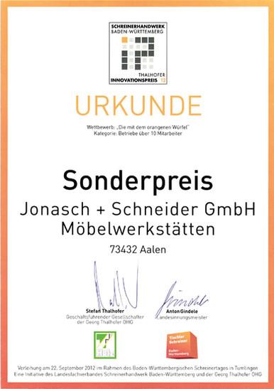 2012 Sonderpreis Thalhofer Innovationspreis