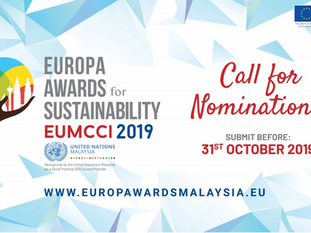 EUROPA AWARDS FOR SUSTAINABILITY 2019 IS NOW OPEN FOR ENTRY