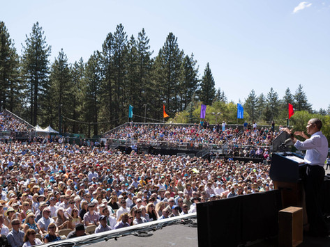 """""""When we protect our lands, it helps us protect the climate of the future,"""" said President"""