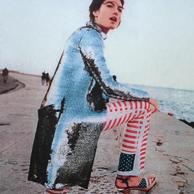 Nina Ricci. Exclusif : manteau en paillettes de métal. 2001